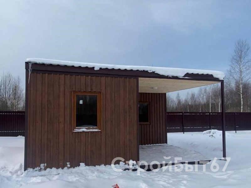 дачный домик с террасой 6 на 6 м.